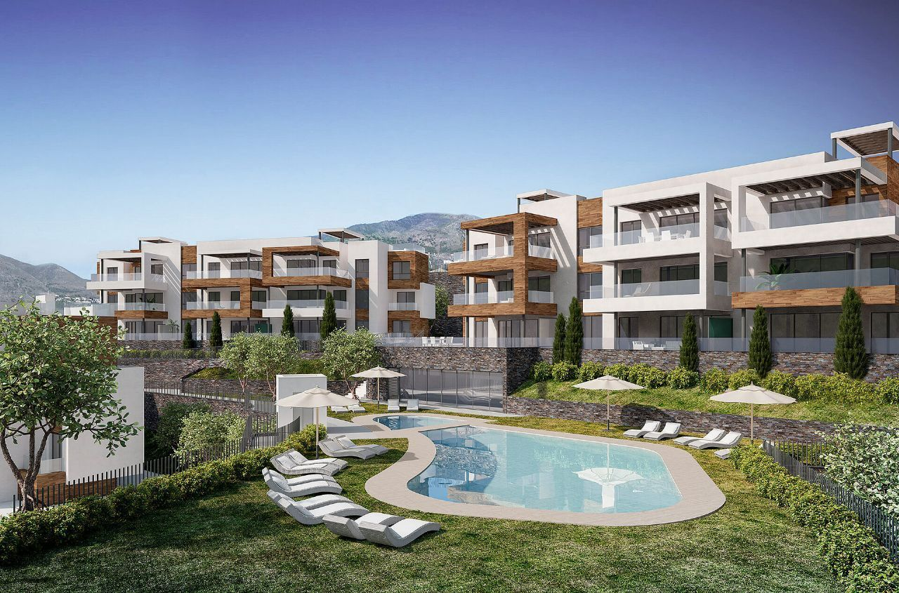 Newly-built apartments situated in a spectacular location in Fuengirola, Malaga, Spain
