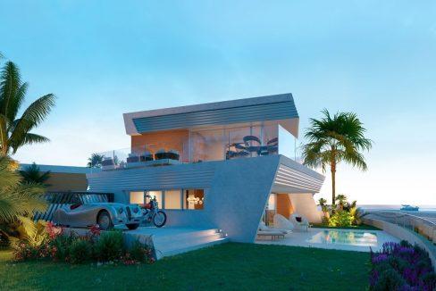 Casas adosadas de estilo contemporáneo único en Mijas Costa, Malaga, España