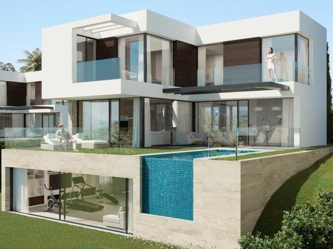 facade-houses-mijas-costa
