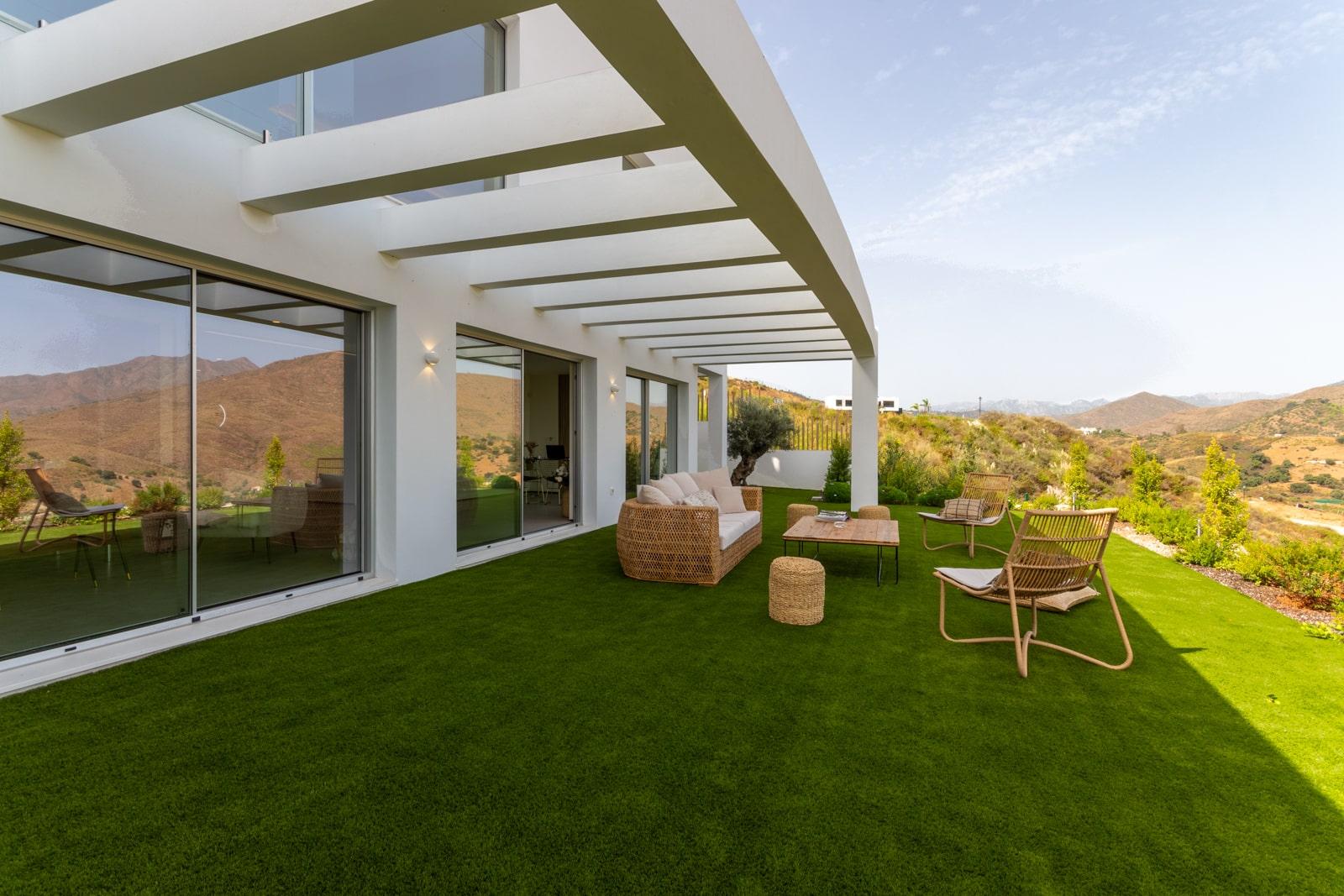 Villa con design moderno e tecnologia innovativa a Mijas Costa
